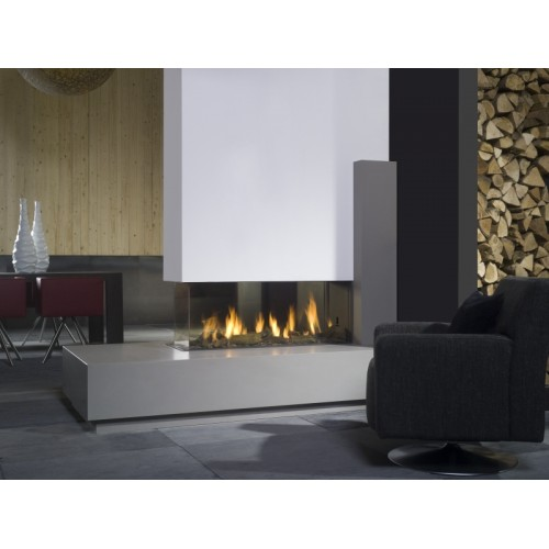 Bell view bell large room divider gas fire for Fireplace room divider