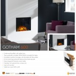 Flame Essence Gotham 600 Electric Fire