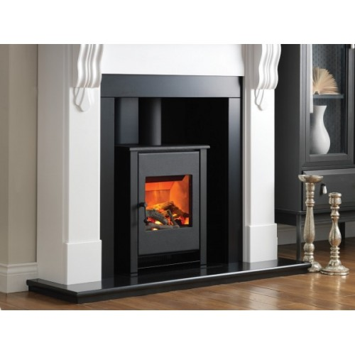 Black Electric Stove ~ Flame essence little atom black electric stove