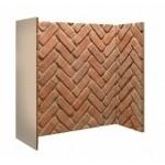 Rustic Brick Herringbone Stove Chamber