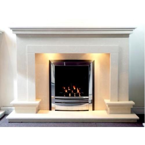 Temple Limestone Fireplace
