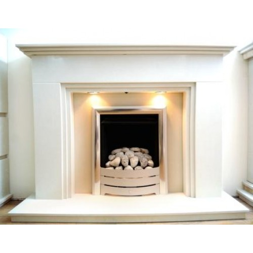 three step marble fireplace