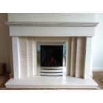 Eclipse Limestone and Mocha Creme Fireplace