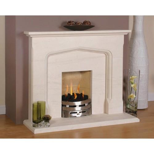 Newman Tudor Limestone Fireplace