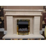 Culture Limestone and Mocha Creme Fireplace