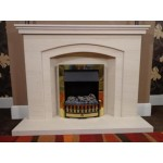 Merrydale Arch Limestone Fireplace