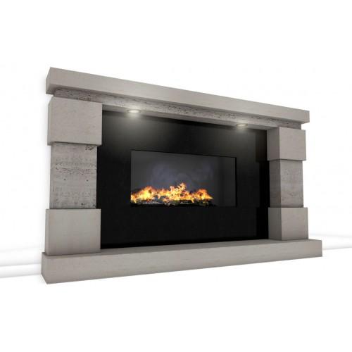 Imagination Limestone And Travertine Fireplace Amp Fire