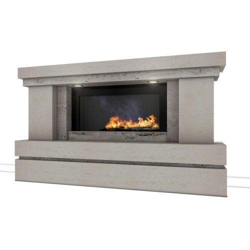 Raider Travertine And Limestone Fireplace Amp Fire