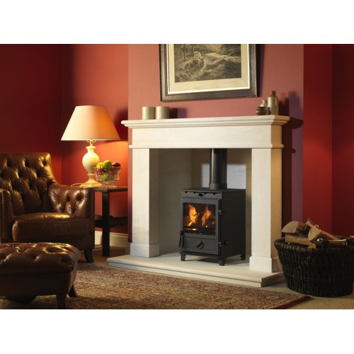 Fireline Balmoral Limestone Fireplace and Stove