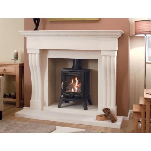 Newman Silvosa Limestone Fireplace And Stove