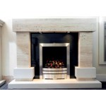 Cornwall Travertine and Limestone Fireplace