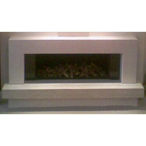 Valance Travertine And Limestone Fireplace Amp Fire